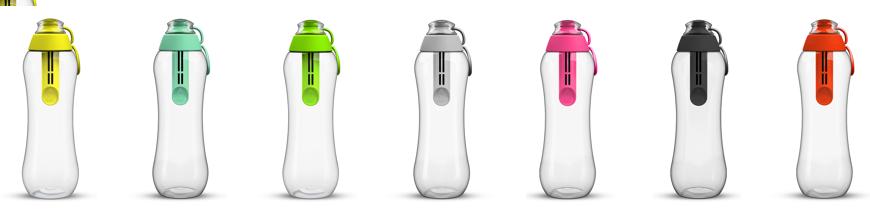 Bogata kolorystyka butelek filtrujących Dafi do wody kranowej