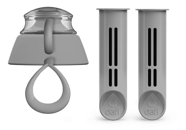 Stalowy zestaw dwóch filtrów do butelki filtrującej Dafi