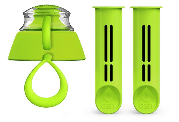 Limonkowy zestaw dwóch filtrów do butelki filtrującej Dafi