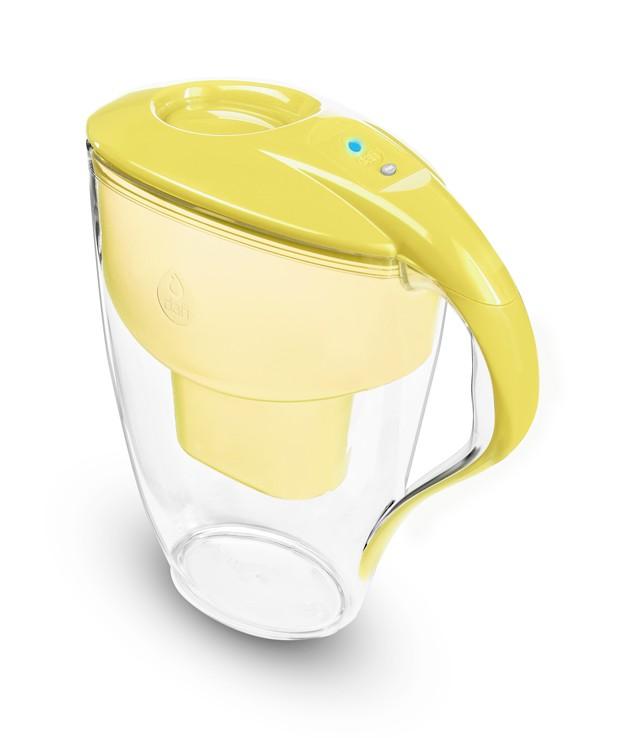 Żółty dzbanek filtrujący do wody kranowej Dafi Astra Led Unimax