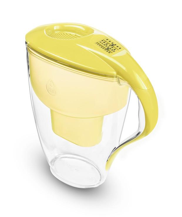 Żółty filtr dzbankowy do wody pitnej Astra Unimax Manual
