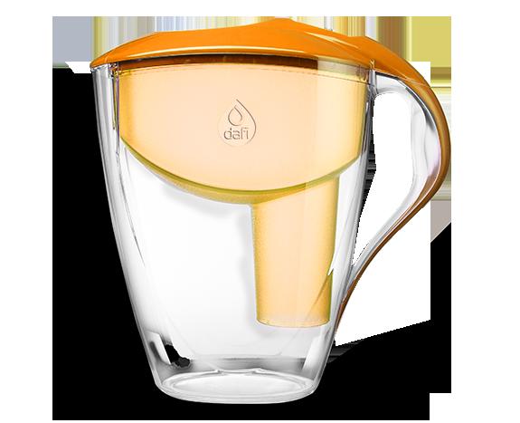Pomarańczowy filtr dzbankowy do wody pitnej Astra Classic Dafi