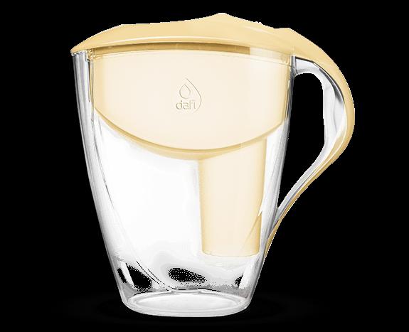 Żółty filtr dzbankowy do wody pitnej Astra Classic Dafi