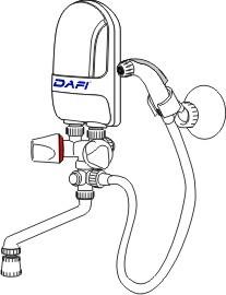 Podgrzewacz wody Dafi z zestawem higienicznym