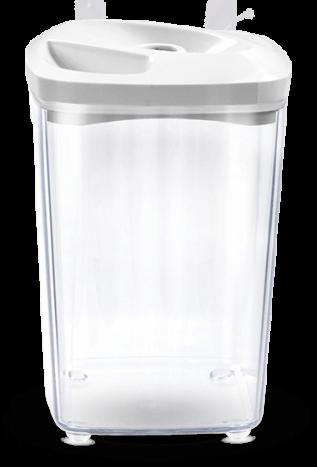 Biały pojemnik próżniowy do przechowywania produktów spożywczych o pojemności 1,3 l