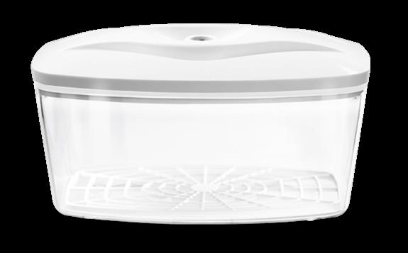 Duży biały pojemnik próżniowy do przechowywania żywności o pojemności 2,7 l