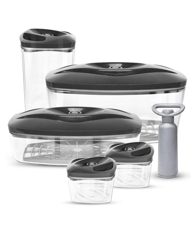 Grafitowy zestaw pojemników próżniowych do pakowania żywności Dafi Vacuum Set 5