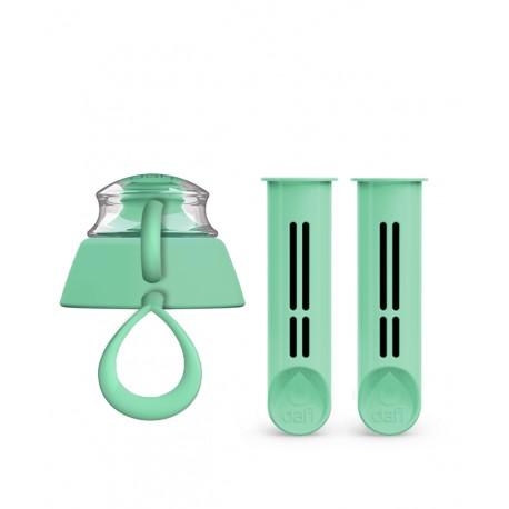 2-Pak wkładów i zakrętka do butelki Dafi - miętowa