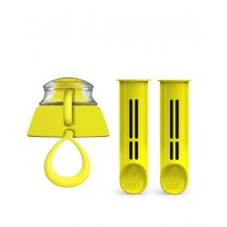 2-Pak wkładów i zakrętka do butelki Dafi - cytrynowa