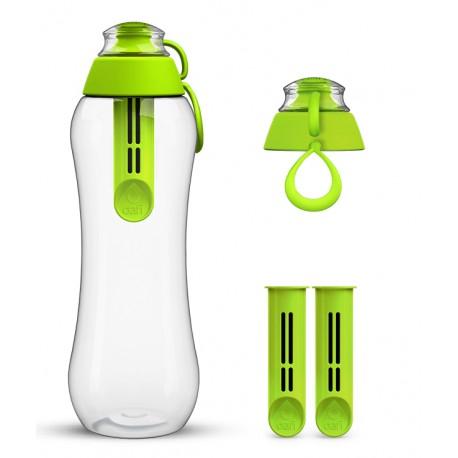 Limonkowa butelka Dafi + 2-pak wkładów filtrujących
