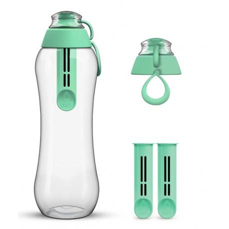 Miętowa butelka Dafi + 2-pak wkładów filtrujących