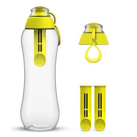 Cytrynowa butelka Dafi + 2-pak wkładów filtrujących