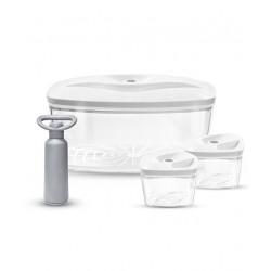 Biały zestaw pojemników próżniowych SET 3 Dafi Vacuum