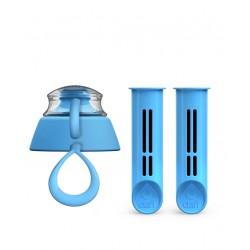 2-Pak wkładów i zakrętka do butelki Dafi - niebieska