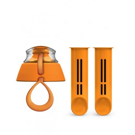 2-Pak wkładów i zakrętka do butelki Dafi - pomarańczowa