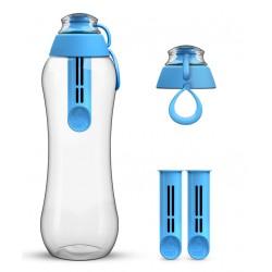 Niebieska butelka Dafi + 2-pak wkładów filtrujących
