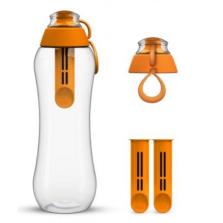 Pomarańczowa butelka Dafi + 2-pak wkładów filtrujących