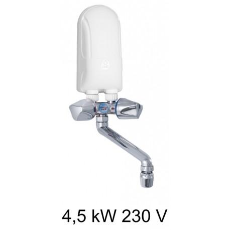 Ogrzewacz wody DAFI 4,5 kW 230 V z baterią w kolorze chrom