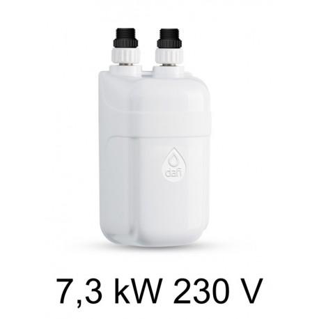 Ogrzewacz wody DAFI 7,3 kW 230 V - termoelement z nyplami