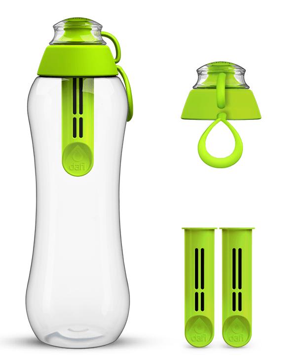 Limonkowa butelka filtrująca dafi i zestaw filtrów