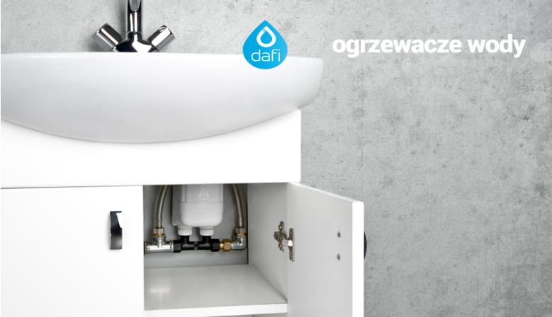 Przepływowy ogrzewacz wody Dafi wersja z przyłączem pod zlew